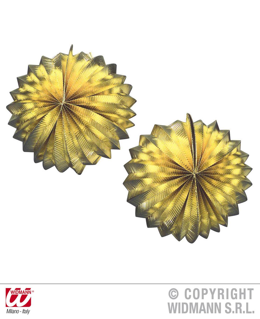 2 Lampion, Laterne RUND, GOLD o. SILBER, Silvester, Party, Deko, Hochzeit