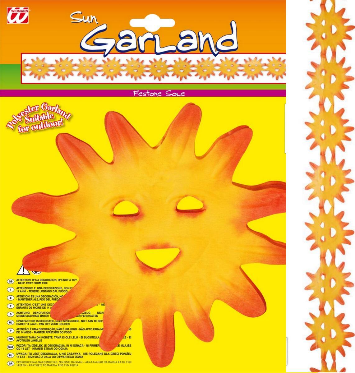 Sonnen Girlande,Outdoor, Hawaii, Sommer Mottoparty, Deko, 3 m
