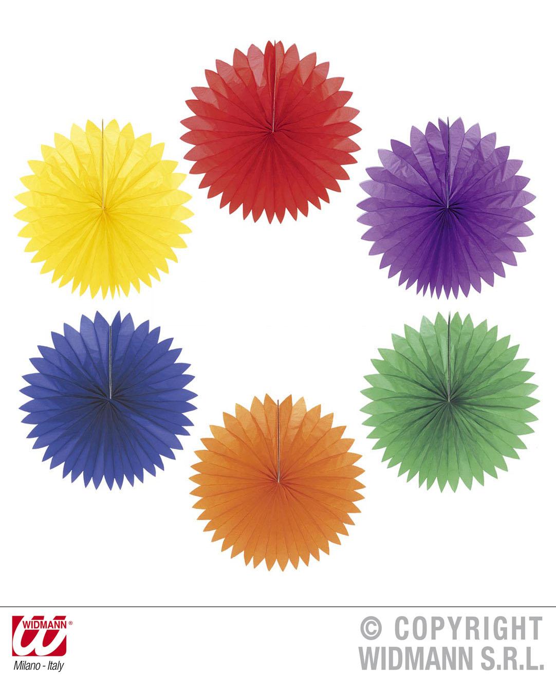 6 x einfarbige runde Papier Lampion,sortiert  Deko Laterne Ø 50cm