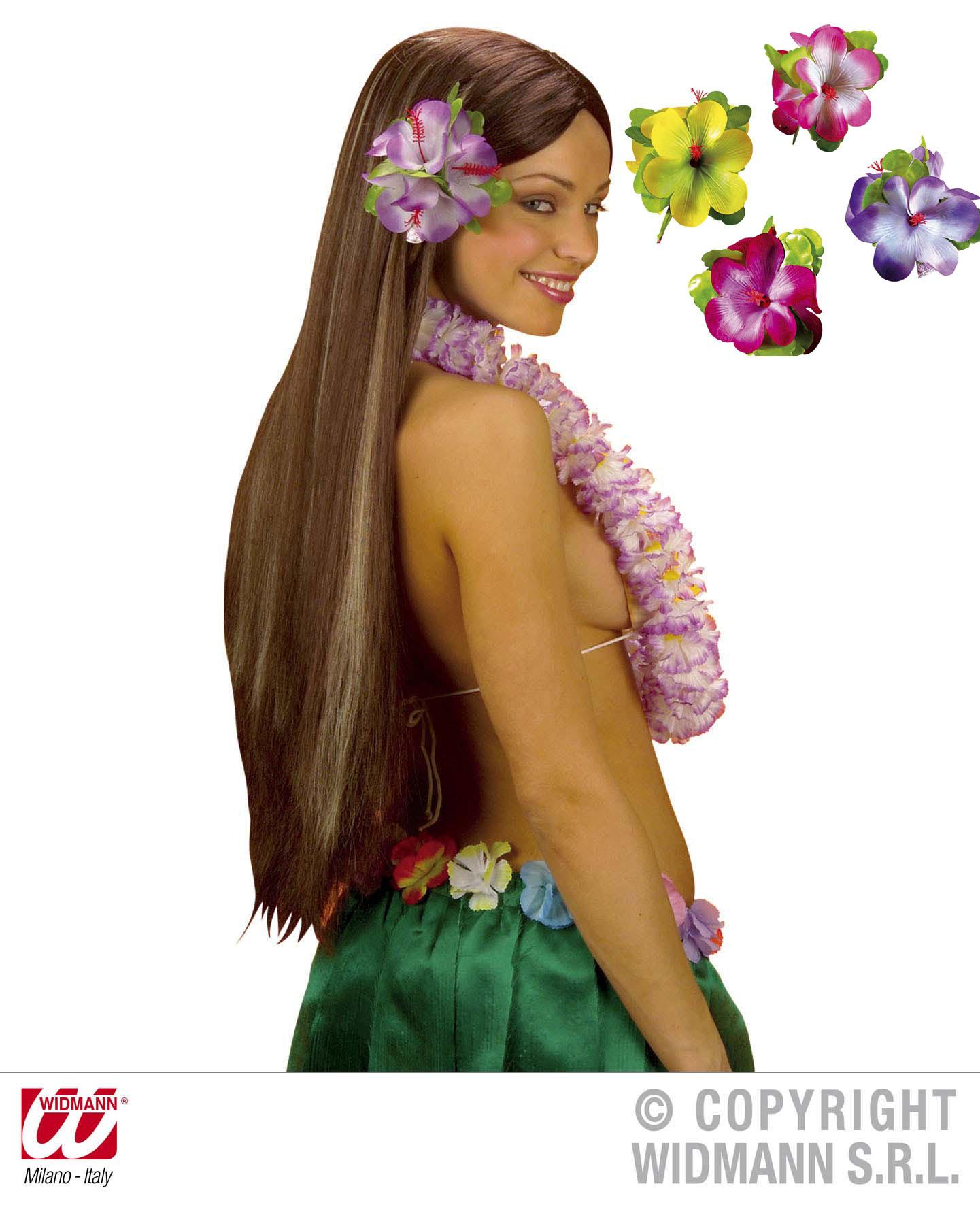 Hibiskus Spange, Blume,Hawaii XL Haarclip 12cm, passend zum Hawaiirock