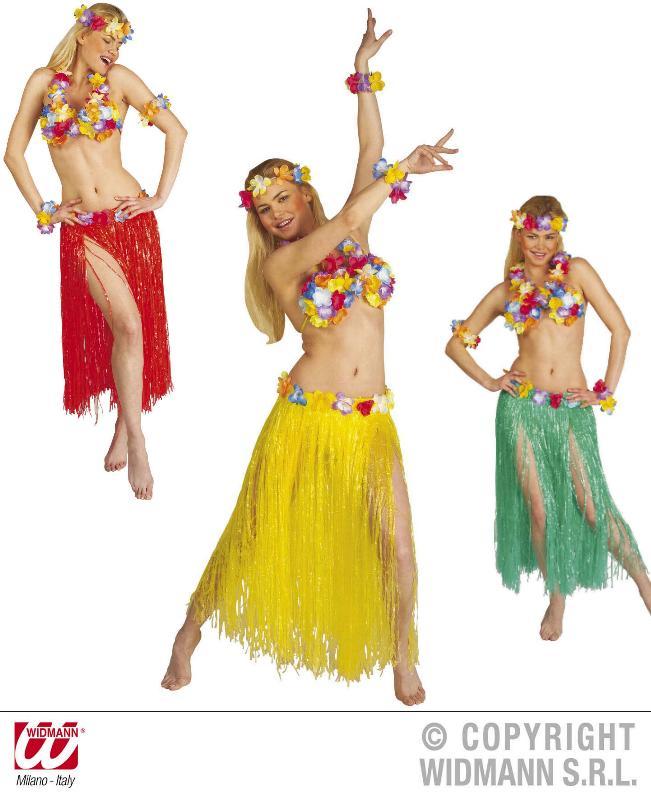 6 tlg.Hawaii Set, Rock, Blumen BH, Hawaii Kette, Blumen Krone,2 Armbänder