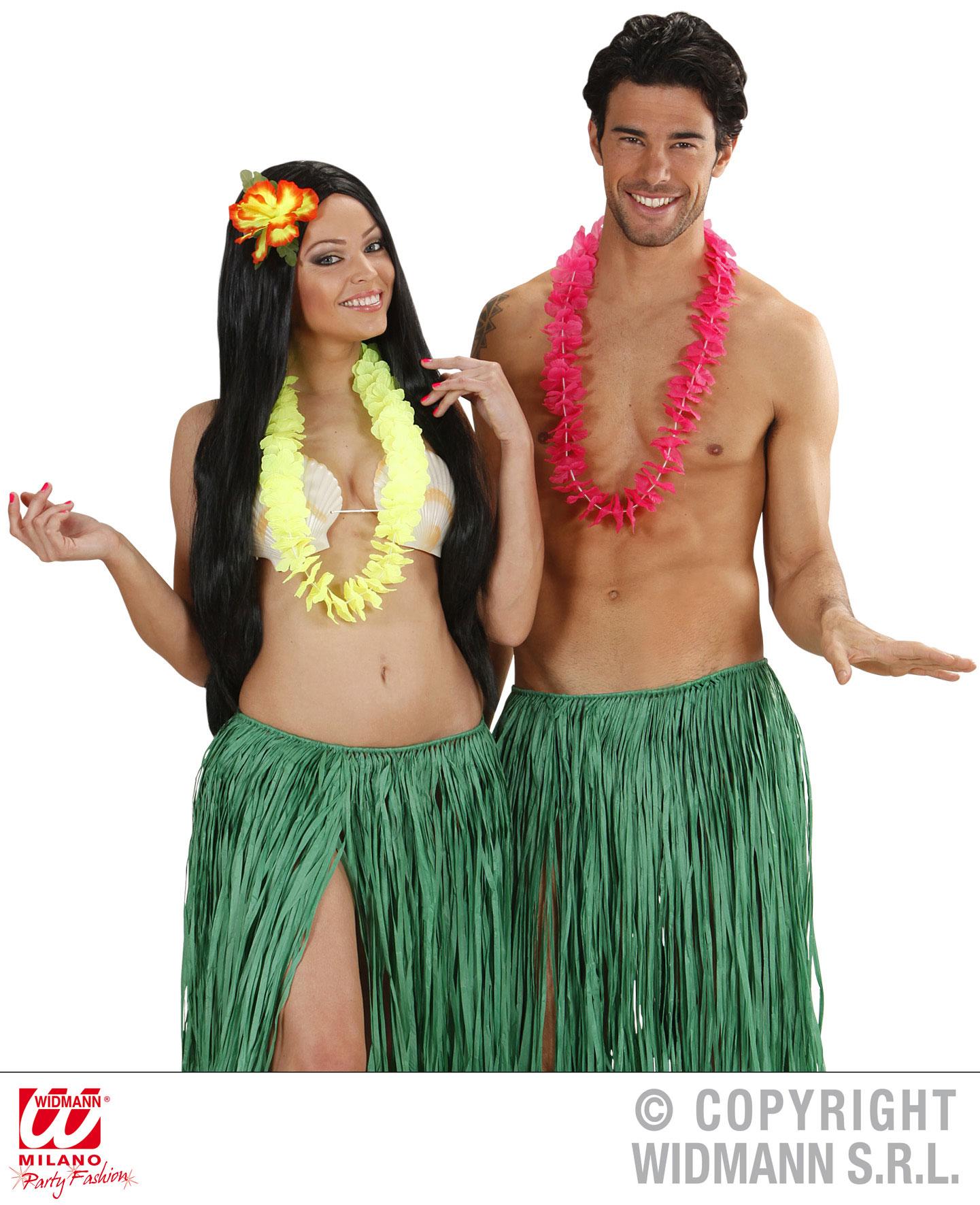 1 x NEON Hawaii Kette Blumenkette Party Karneval Erwachsene + Kinder