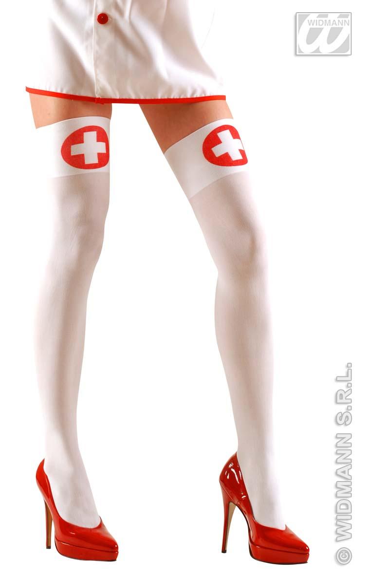 Krankenschwester, halterlose Strümpfe *70den Karneval, S u. L