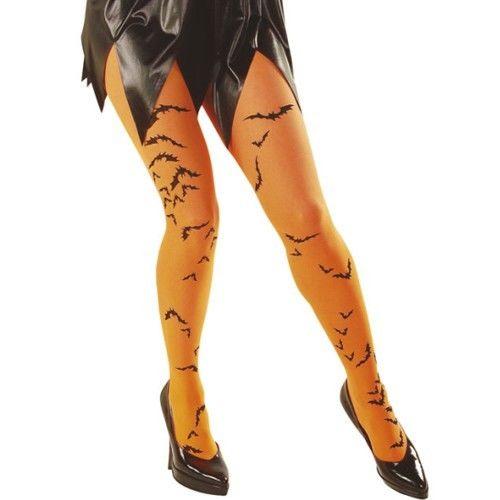 Strumpfhose FLEDERMAUS,Gothic Neon Halloween 36-38 grün,orange,lila