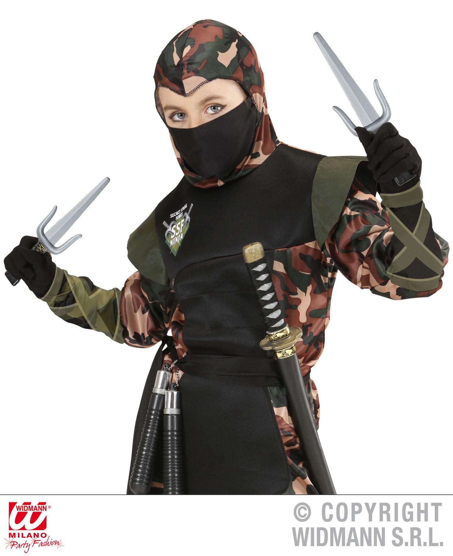 4 tlg.Ninja Samurai Zubehör, Sai u. Shuriken, Asien, Japan  Spielzeug