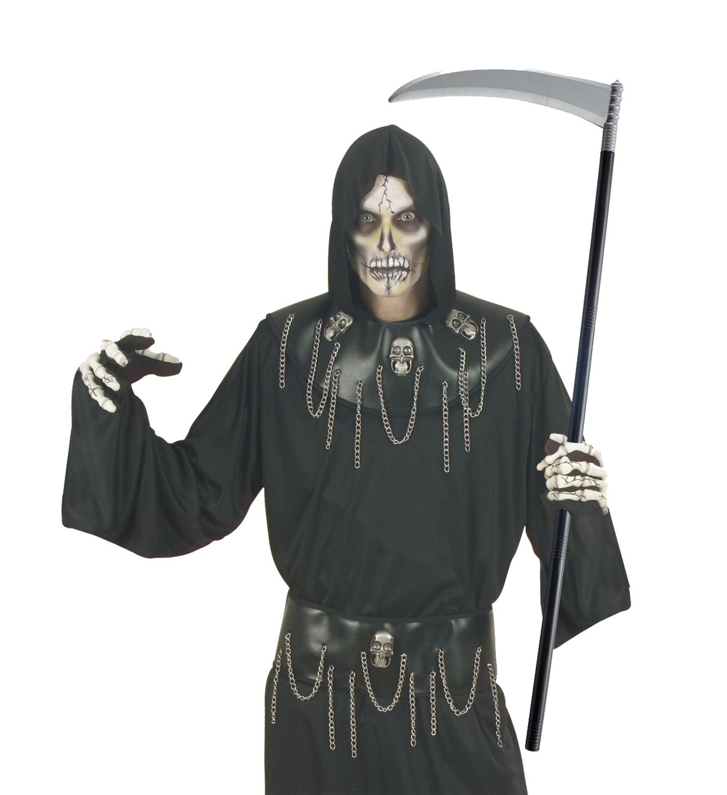 Sensenmann Sichel, Sense 101 cm, Zubehör zum Kostüm Halloween