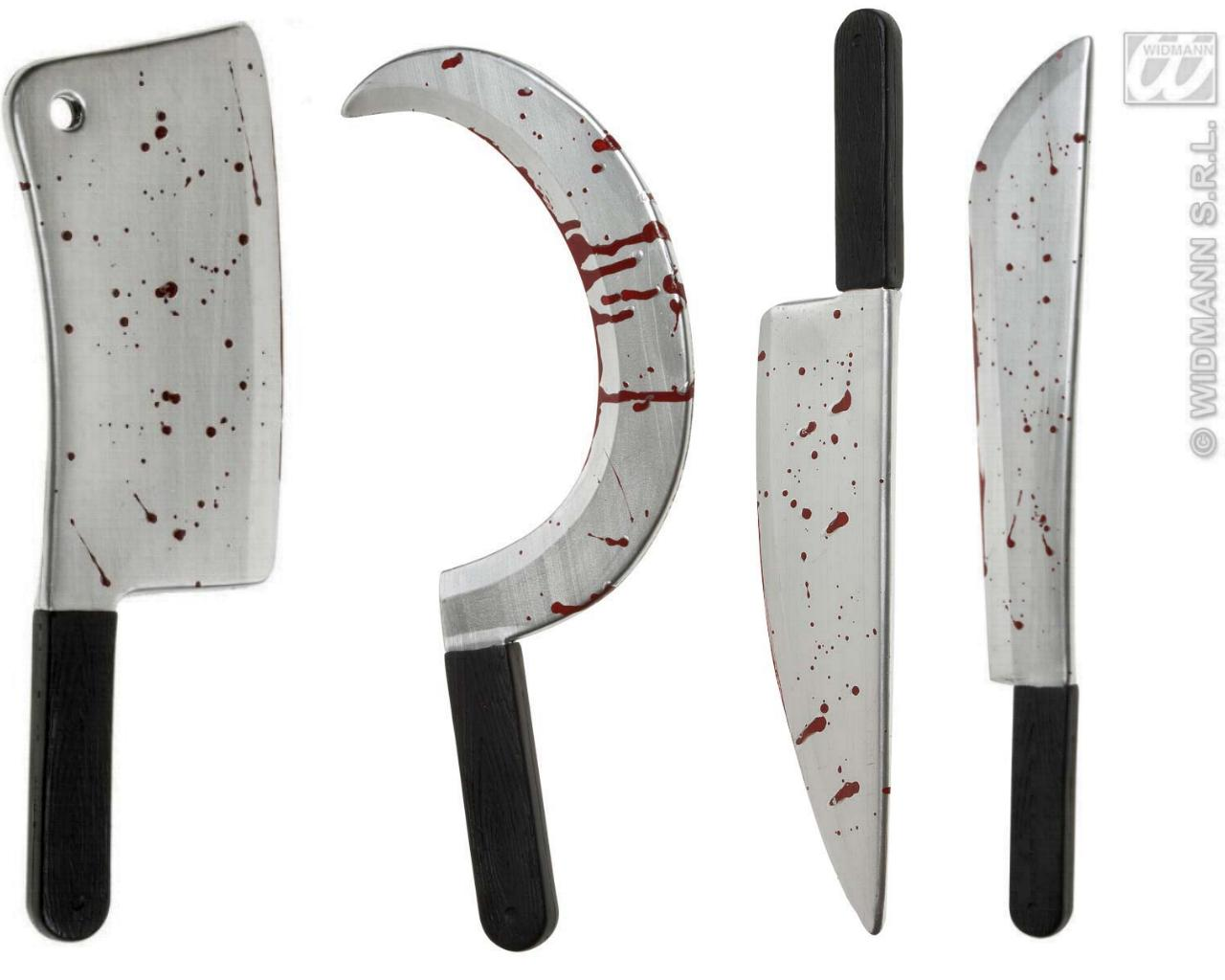 Blutiges Beil, Machete, Messer, Sichel, Halloween Sense  860