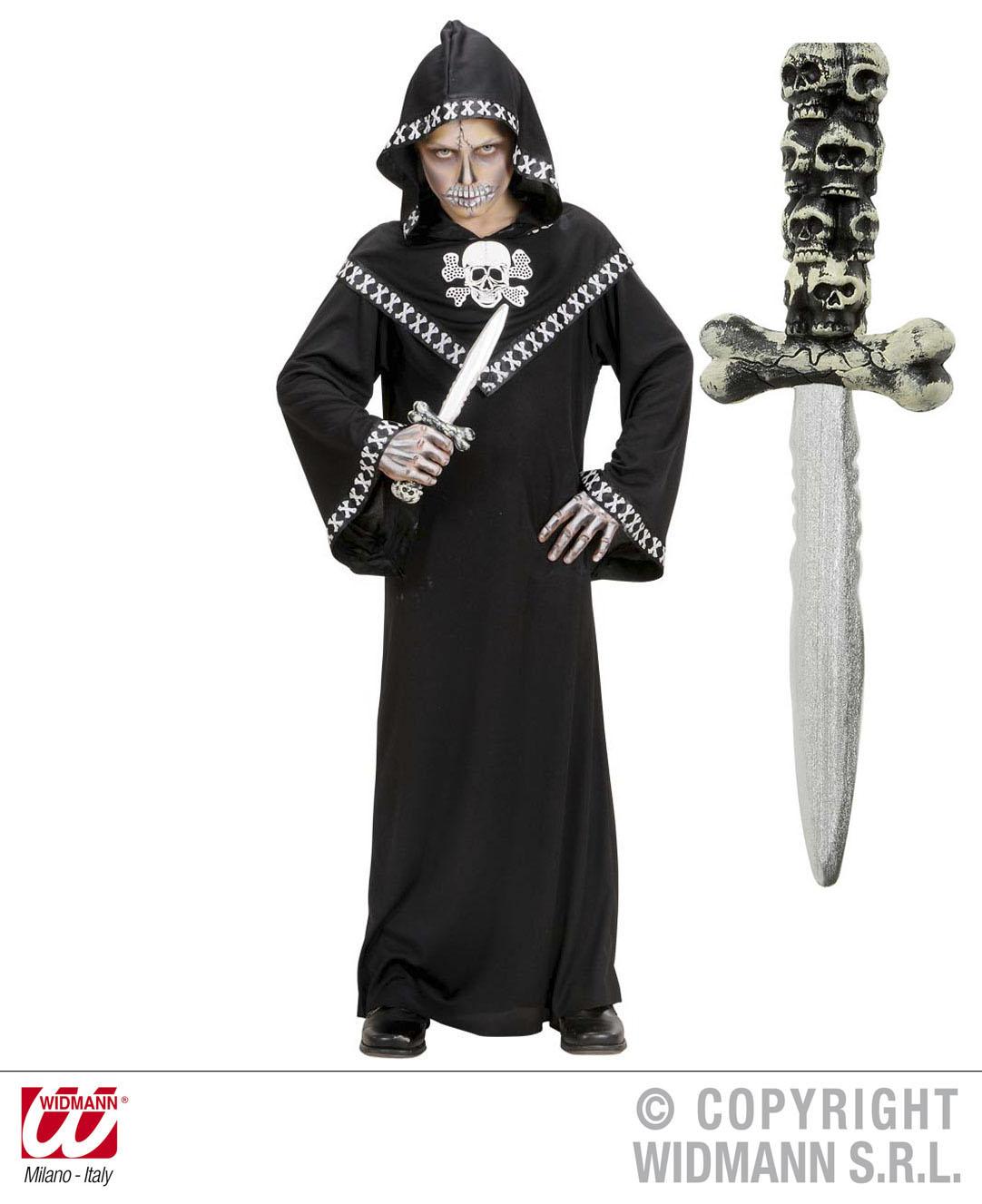Dolch, Messer Totenkopf, Zubehör Halloween