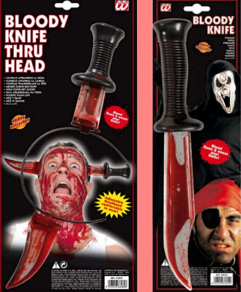 Blutige Messer,Blutmesser, flüssiges Blut Haarreif, Pirat,Scream,Halloween