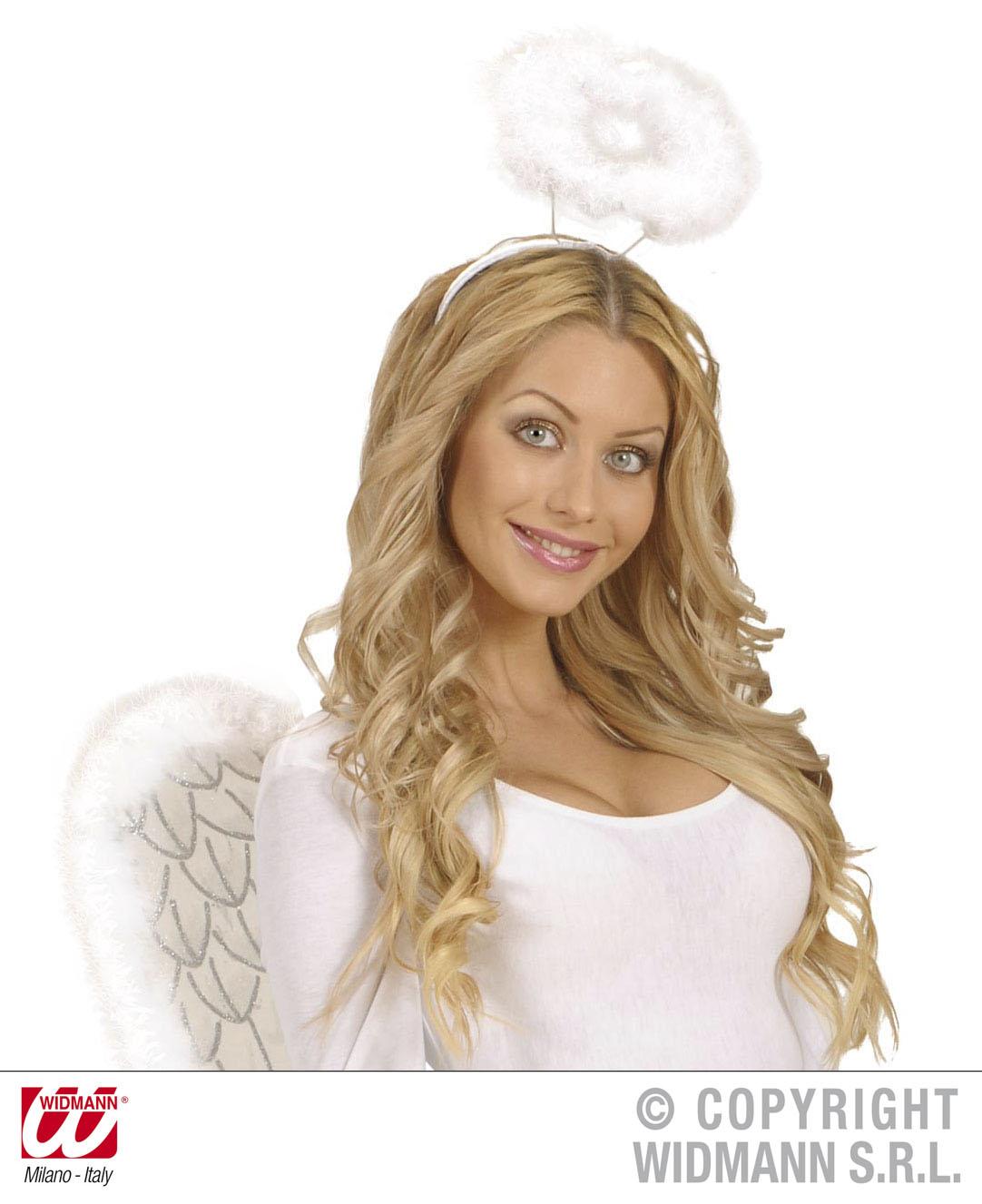 Heiligenschein, ENGEL Haarreif m Marabou, Weihnachten Kinder Damen