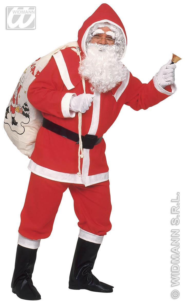 Deluxe Weihnachtskostüm, Weihnachtsmann, Flanell Komplett 1535