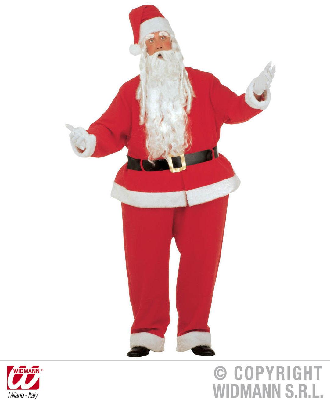 Dicker Weihnachtsmann + Mütze  XXL mit Reifhemd Reifhose