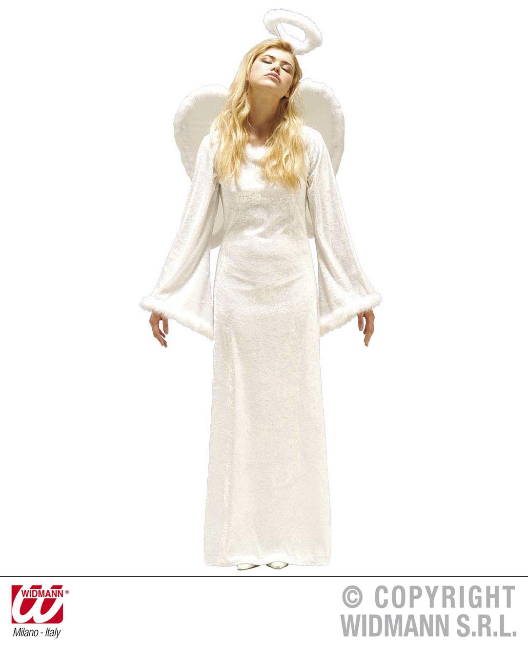 3 tlg. EngelsKostüm lang, Engel Kostüm, Flügel, Heiligenschein 36-38