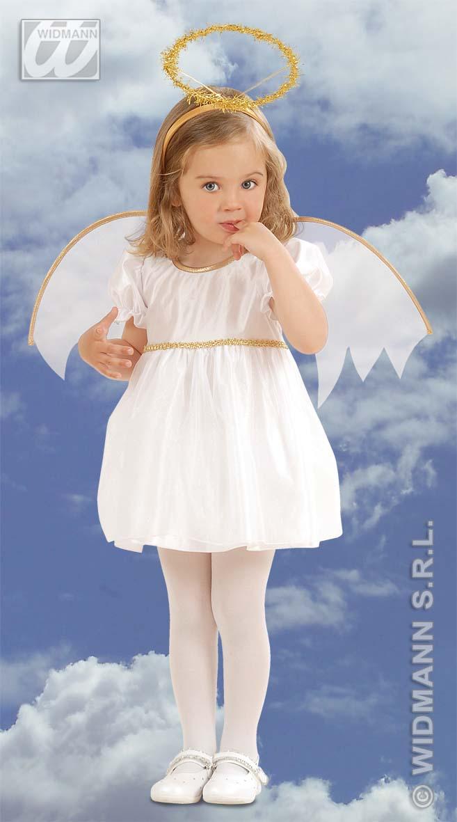 EngelsKostüm Kinder Engel Kostüm Kleid, Flügel,Heiligenschein 98+104  4933
