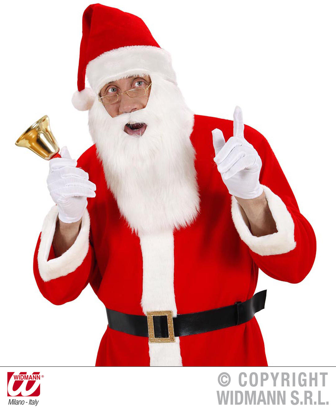Weihnachtsmann Nikolaus Bart + Weihnachtsmütze