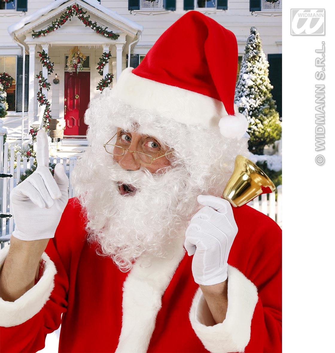 Weihnachtsmann-Perücke,Perücke Locken m. Bart u. Augenbrauen  1530