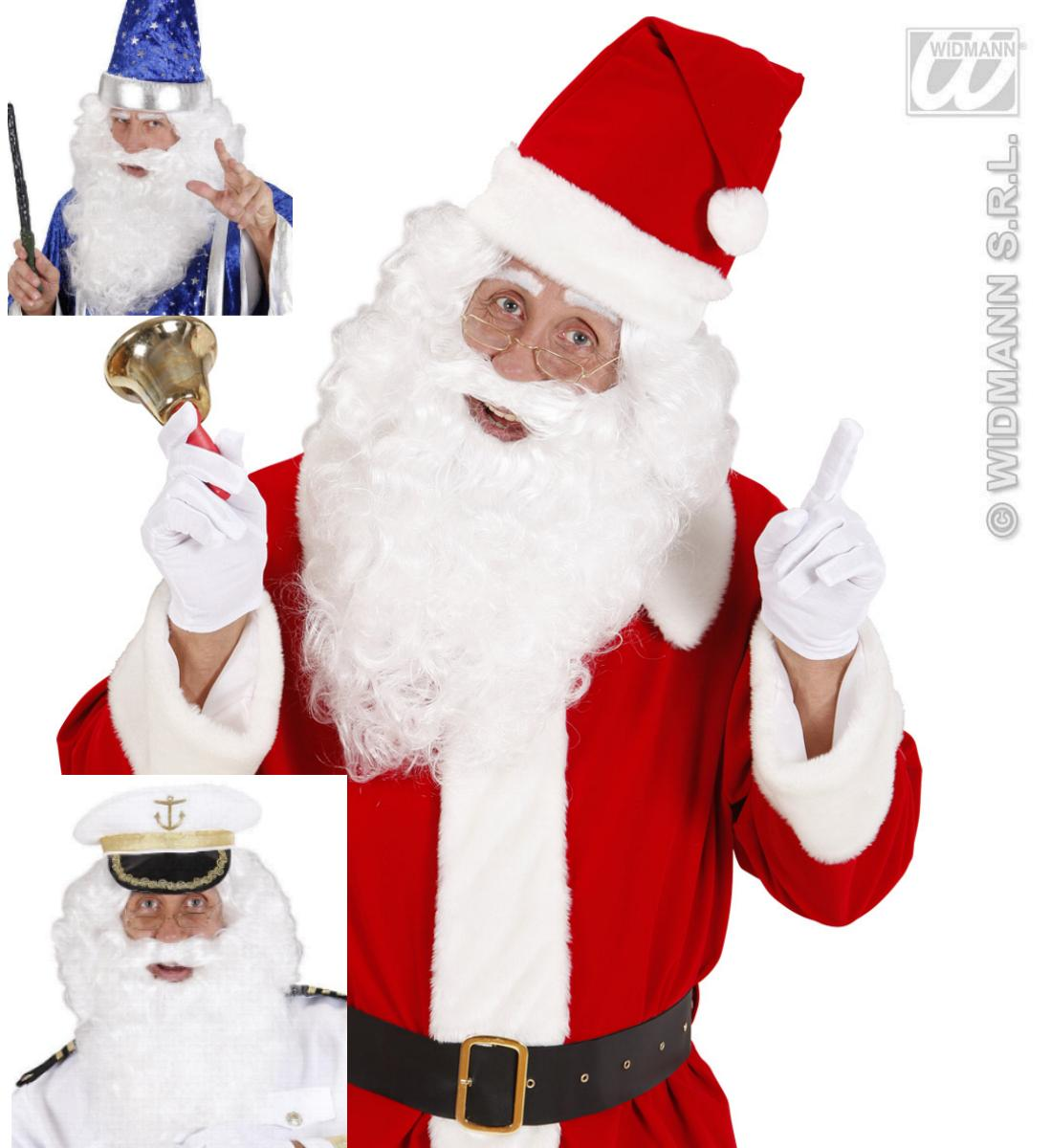 Weihnachtsperücke, Bart u. Oberlippenbart Zauberer, Kapitän Perücke