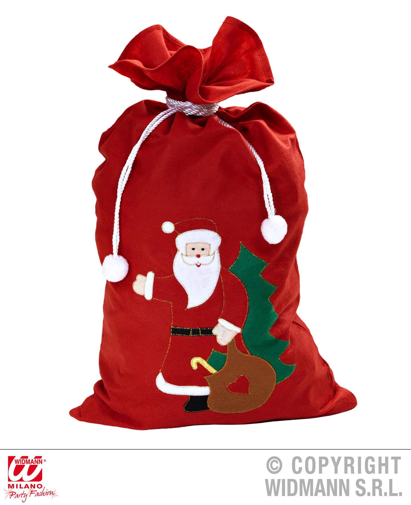 Weihnachtssack,Nikolaussack feiner Filz  Applikation Weihnachtsmann 60 x100