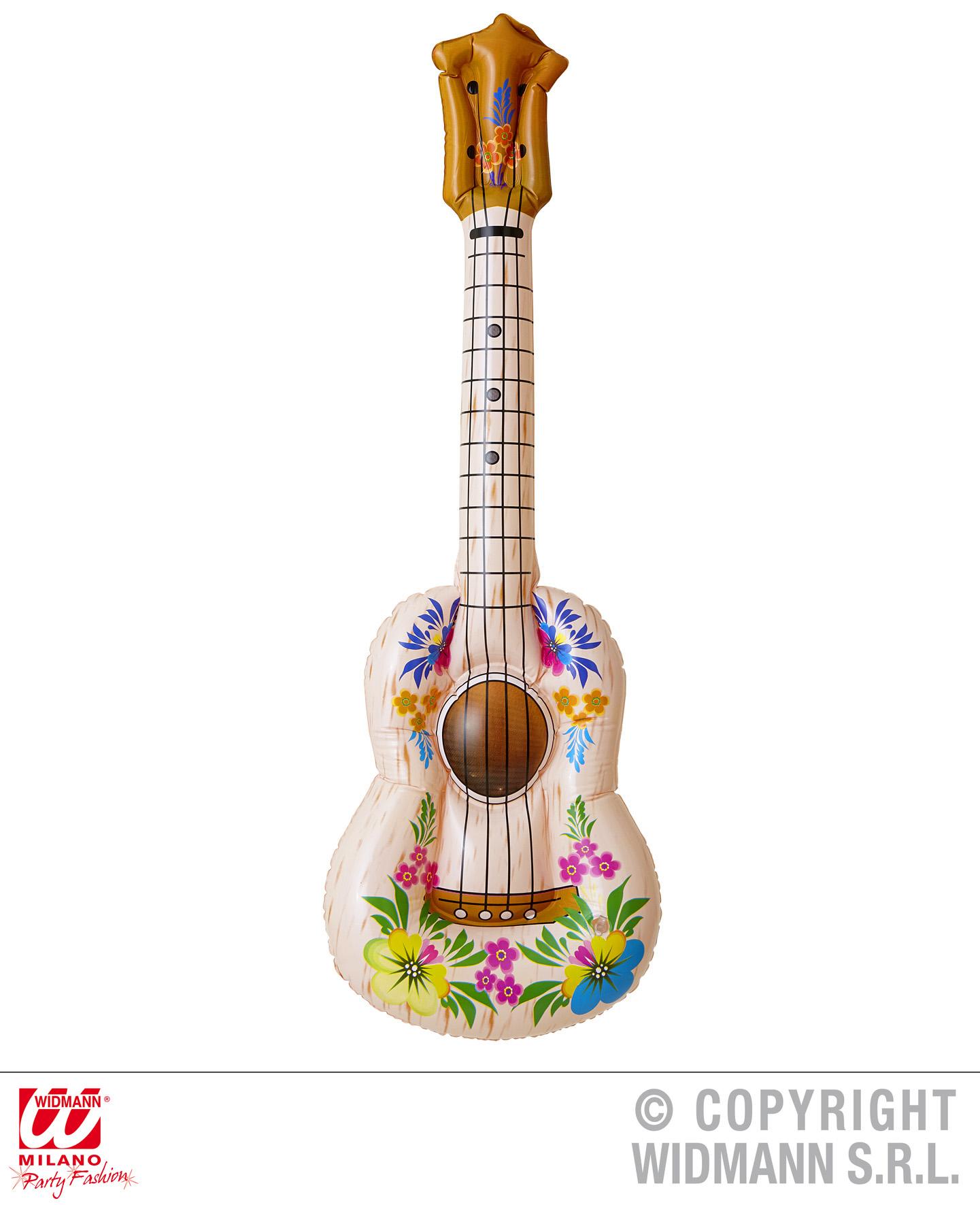 AUFBLASBARE Gitarre, Ukulele ca.105 cm Mottoparty Hawaii