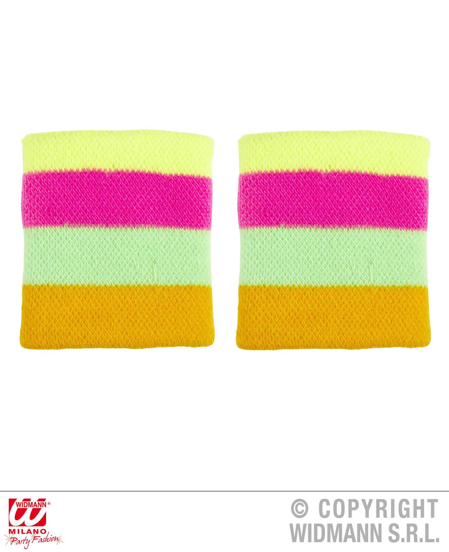 80er jahre schwei b nder stirnband gr n pink gelb. Black Bedroom Furniture Sets. Home Design Ideas
