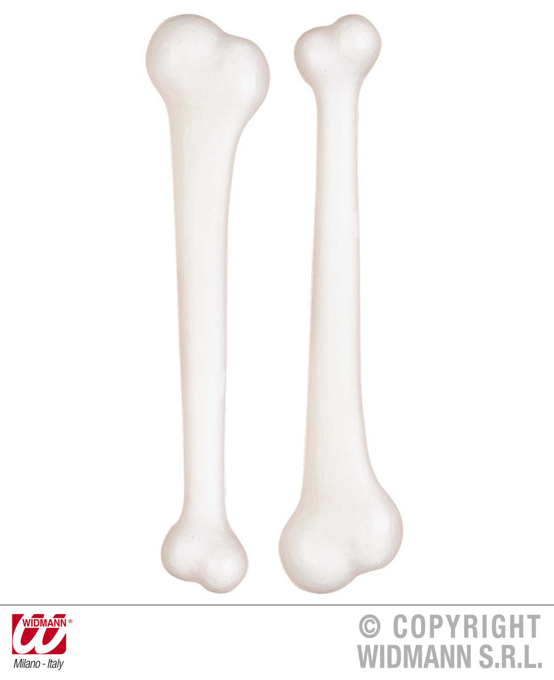 2 große weiße Knochen Neandertaler, Steinzeitmensch,Karneval Halloween 2314