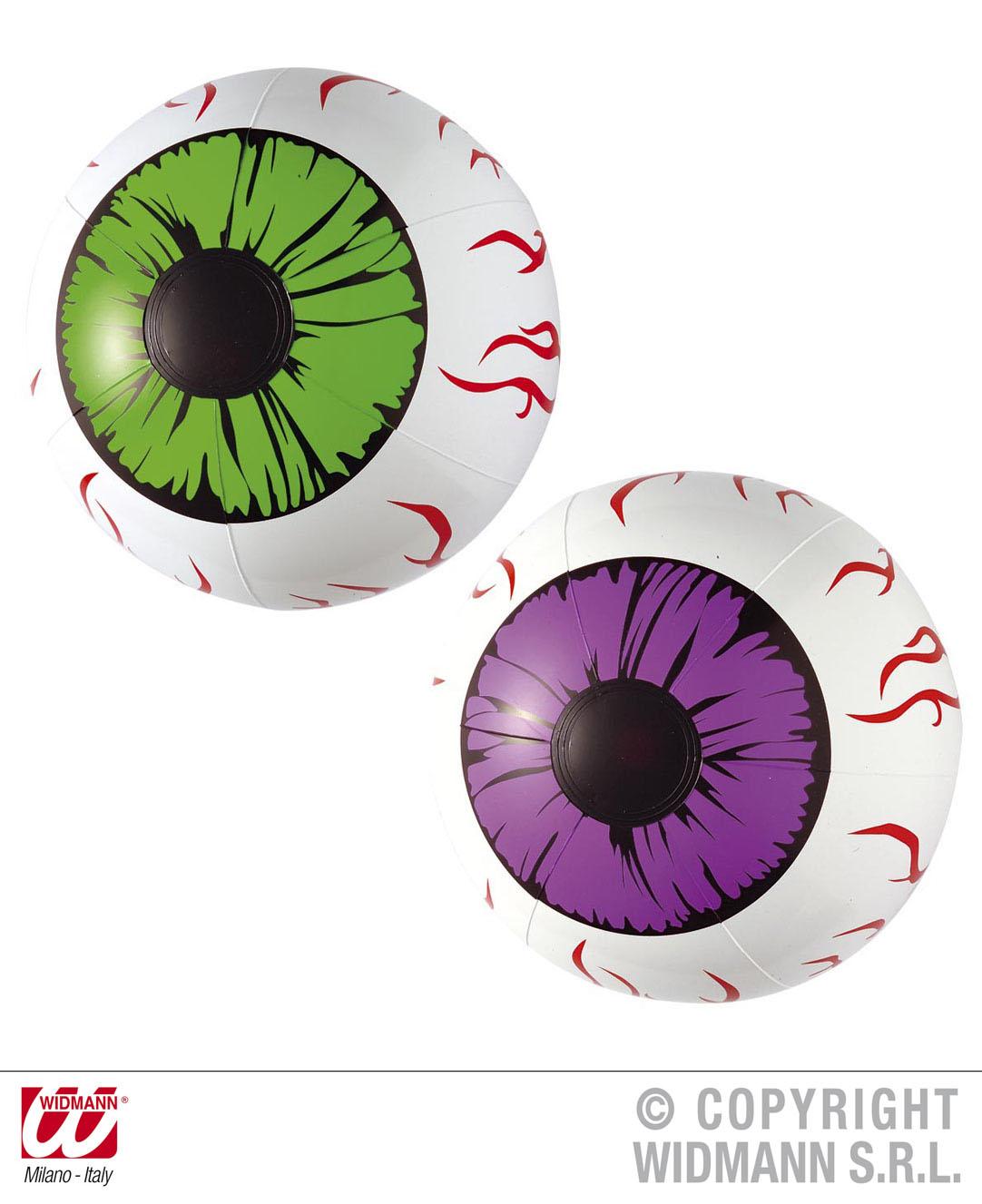 Aufblasbar Set: 2 XXL Augen, 25 cm Halloween, Horror,Party, Deko