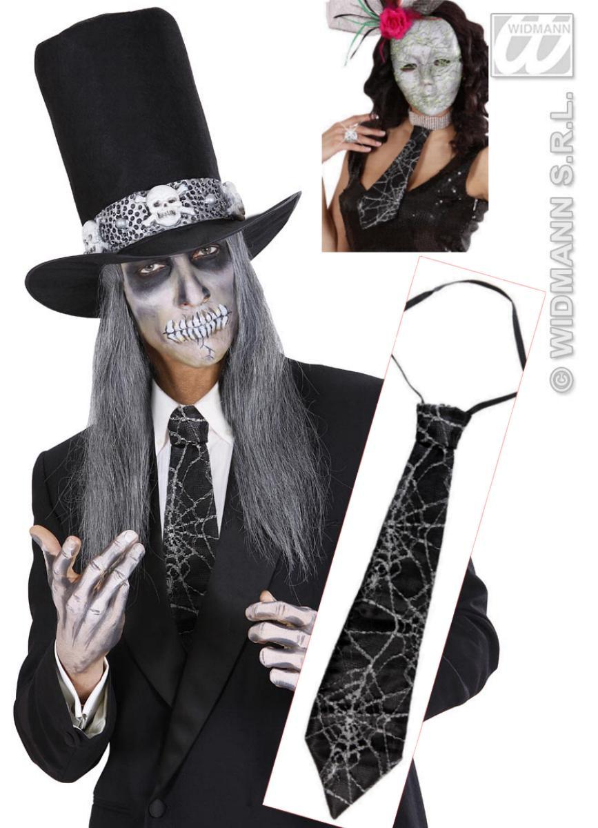 Krawatte, Schlips Spinnweben, Spinne, Gothic, Halloween Herren Damen