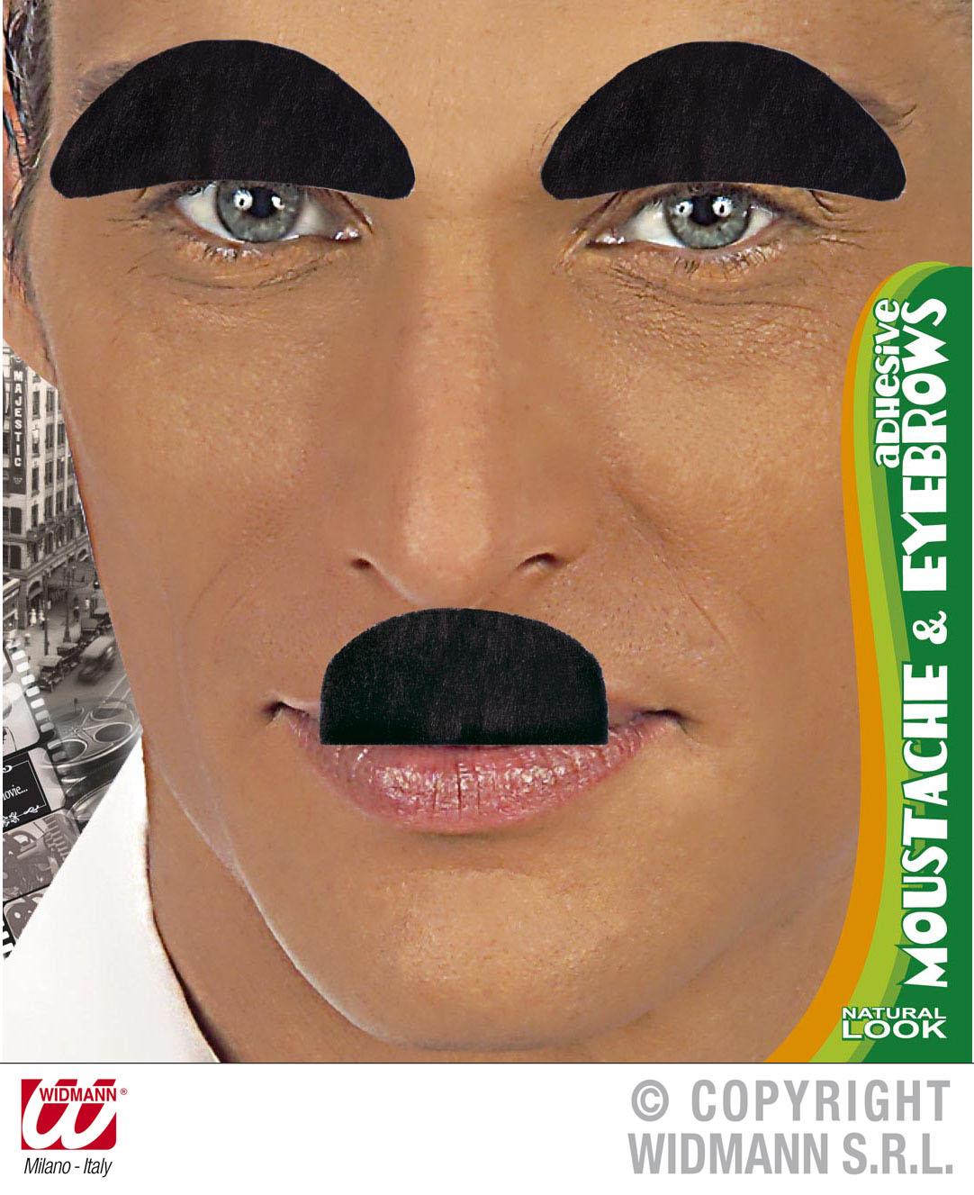 Komiker Schnäuzer u.Augenbrauen Set Bart,schwarz