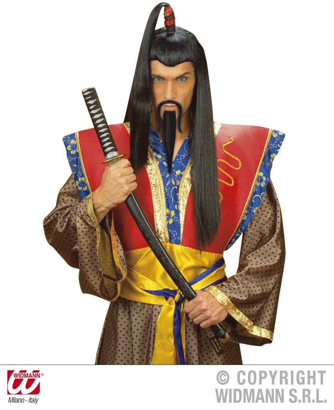 Oberlippenbart u. Kinnbart, Chinesen Bart  Ninja,Samurai 855