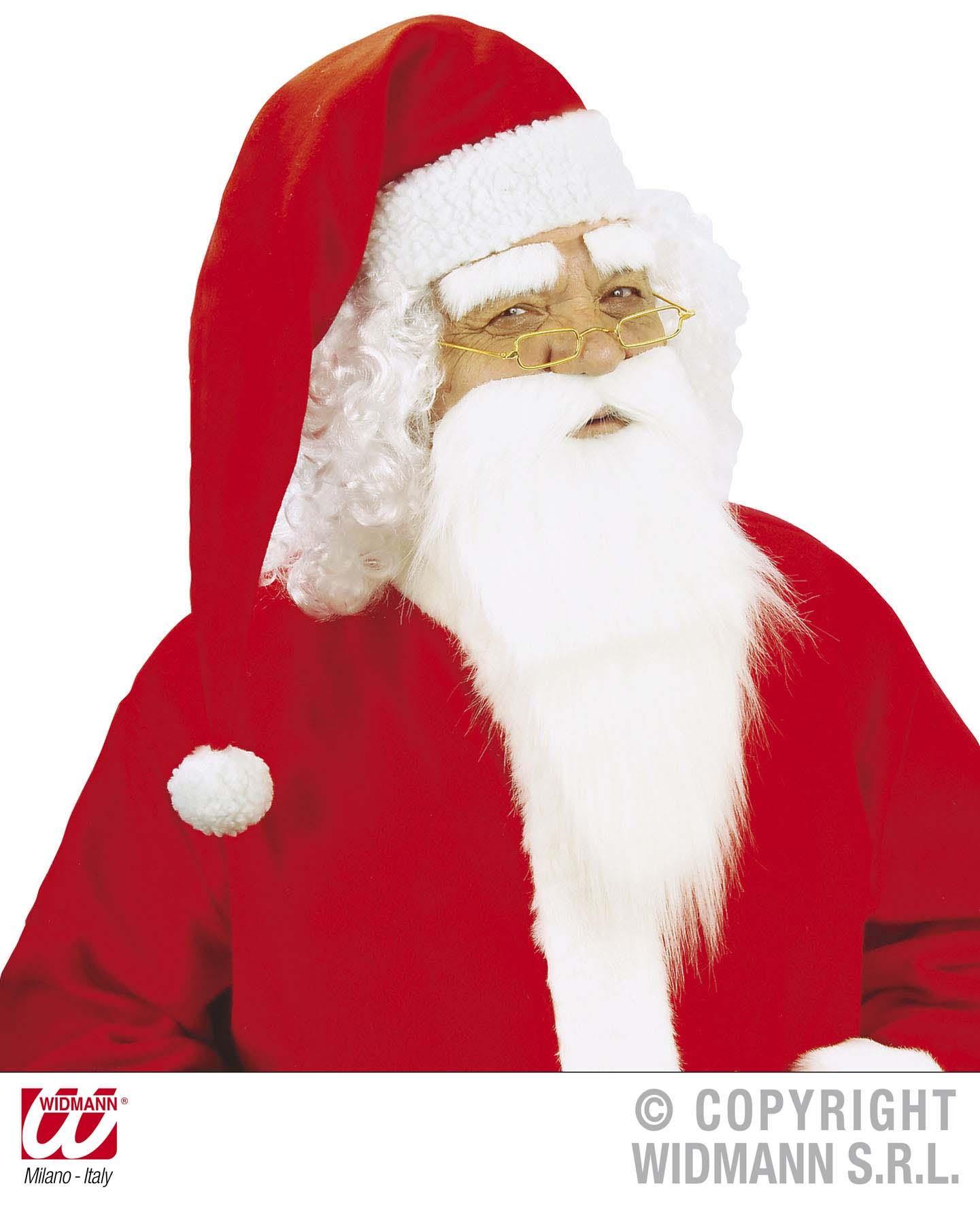 Nikolaus Bart Weihnachtsmannbart,weißer Vollbart mit Augenbrauen 1517