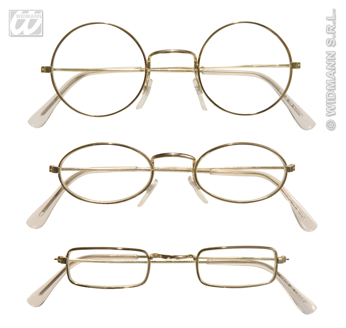Brille NIckel, gold, Messing, rund, eckig, oval,Weihnachten, Zwerg,Oma  1823
