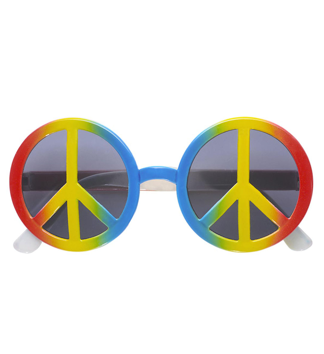 Hippie Brille 70er Peace Love Sonnenbrille  Mottoparty Damen Herren