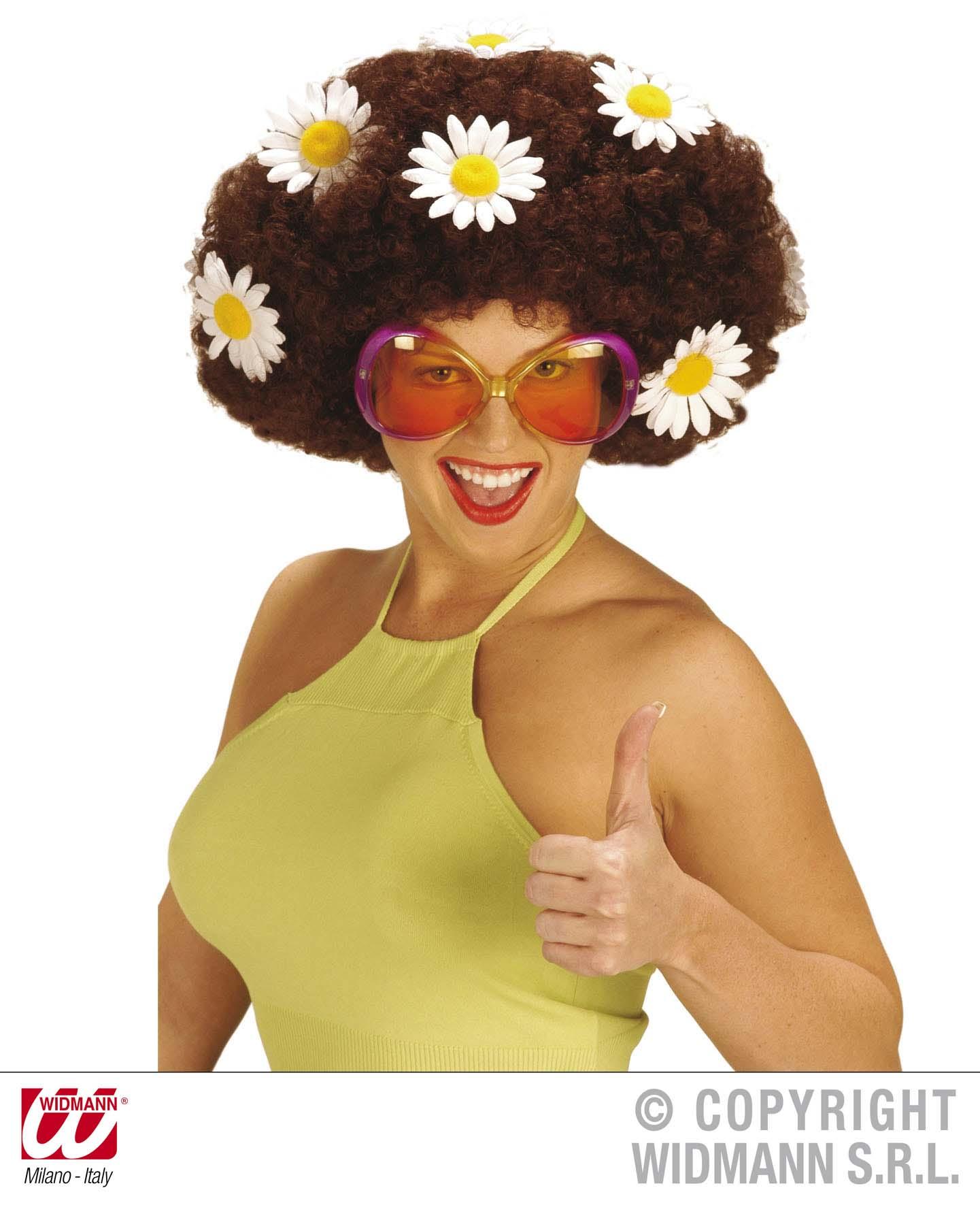 Hippie Brille,60er-70er,Große Sonnenbrille  Mottoparty pink, rot, grün